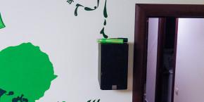 Кляксы на стене. Роспись стен. [декоратор Виктория Астапчикова]