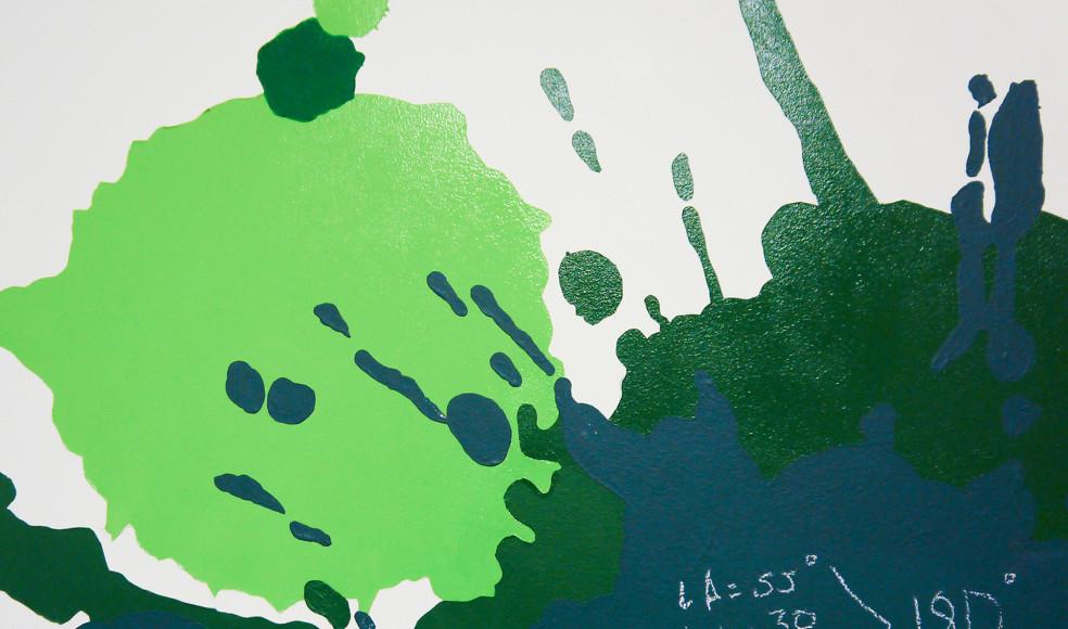 Декорирование стены в детской комнате красками для школьных досок. [декоратор Виктория Астапчикова]